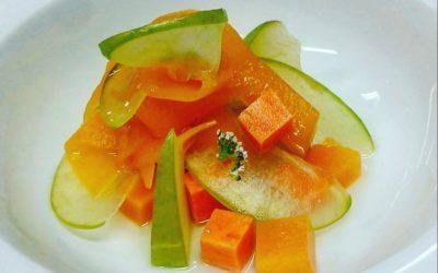 Frutas y verduras en almíbar de miel