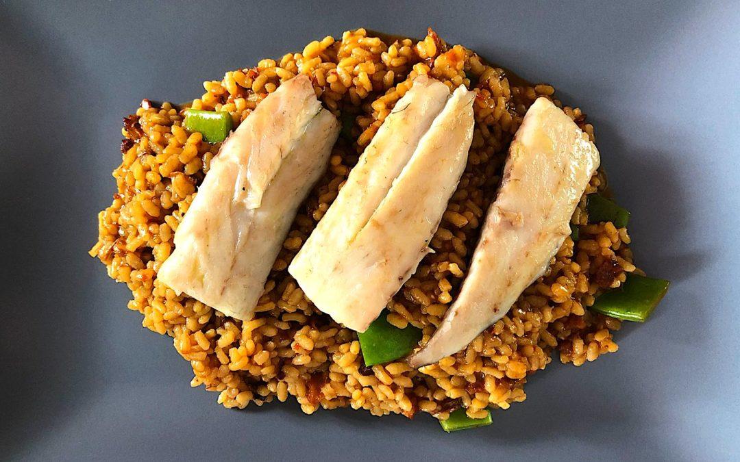 Aprende a hacer este increíble arroz de lubina