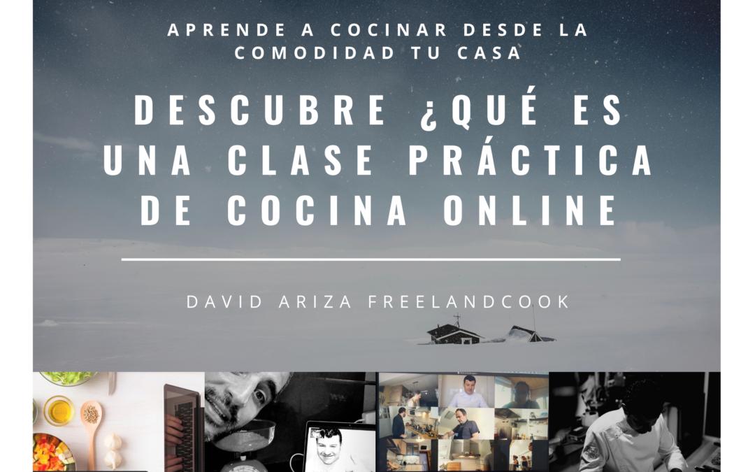 ¿Qué es una clase práctica de cocina online en directo?