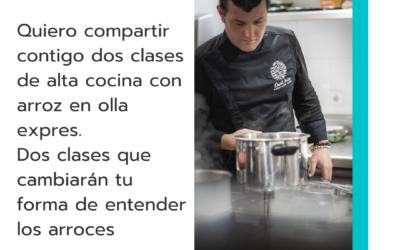 Arroces gourmet en olla expres, nuevas clases prácticas de cocina online en directo