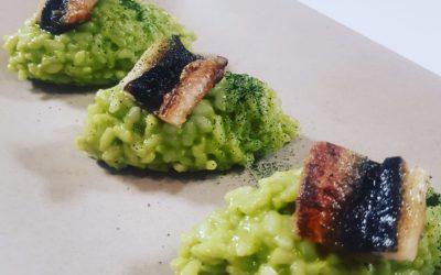 Arroz de anguila mantecado con plancton Algan
