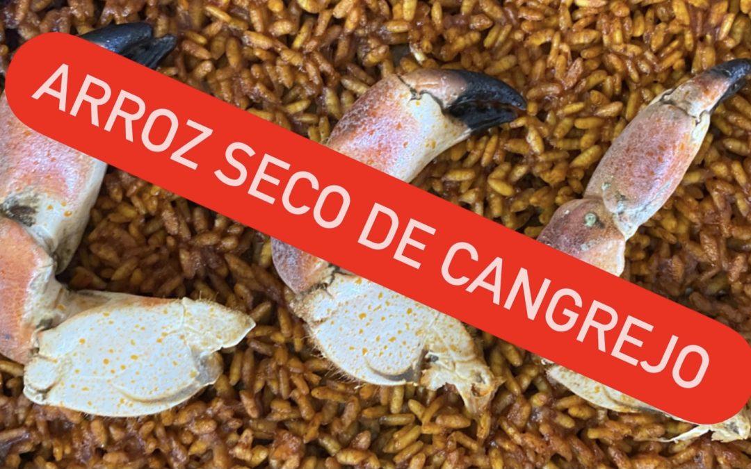 Arroz seco de cangrejos con el punto perfecto